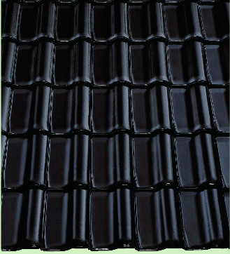 черная металлочерепица