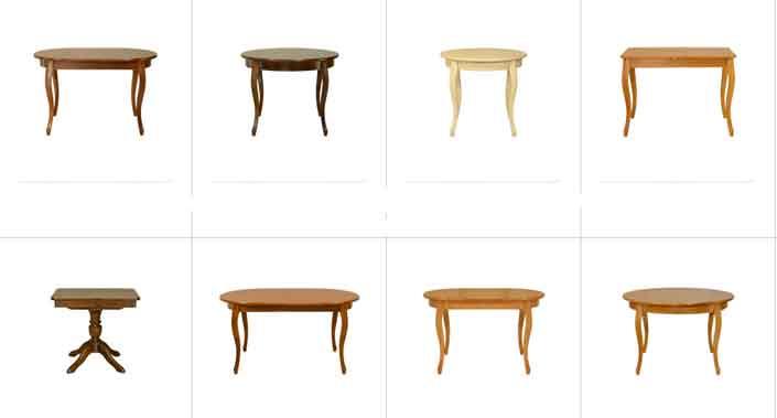 фото столов из дуба