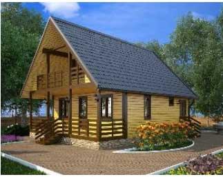 Современная деревянная баня