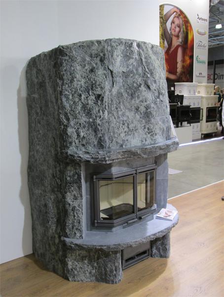 облицовка камина камнем