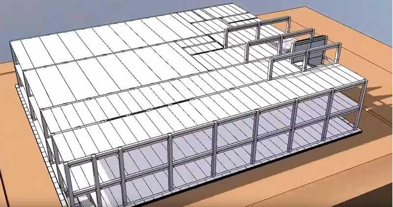 двухэтажное промышленное здание