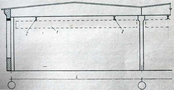 схема здания с подвесным краном