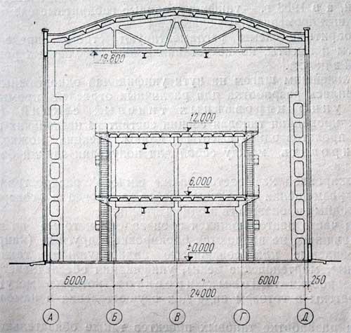 павильонное здание с этажеркой