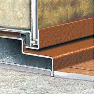 фото узла заглубления двери