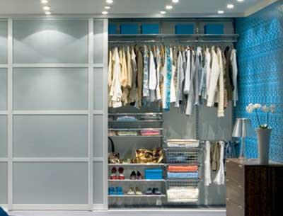 дизайн гардеробной комнаты в стиле хай тек