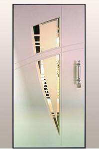 металлическая дверь с зеркалом, зеркальные элементы двери