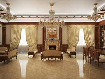 дизайн студия, гостиная с камином