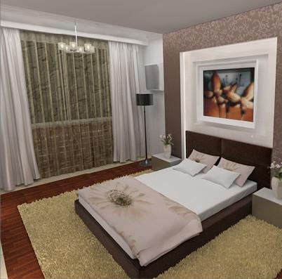 интерьер помещения спальни