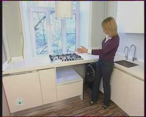 встроить стиральную машину, бытовую технику, фото