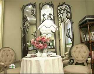фото зеркал на кухне