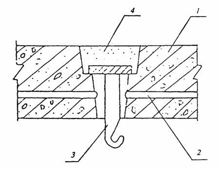 Вывод провода из перекрытия к потолочному светильнику