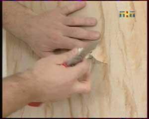 Отверстия под розетки в гибком камне