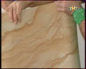 отделка плафона гибким камнем