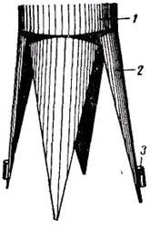 Устройство набивных свай четырех-створчатого башмака набивной сваи