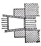 схема клинового зажима