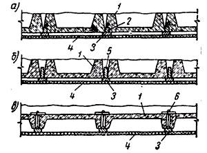 схема креплений каркасов
