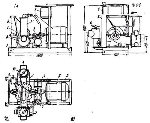 Насосный агрегат BA б. треста