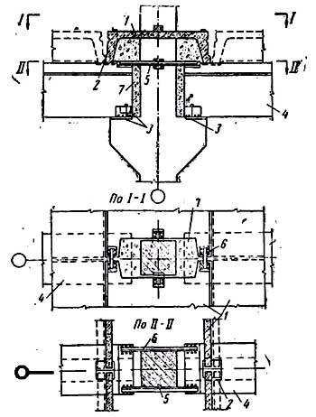 схема опирания ригеля на плиту