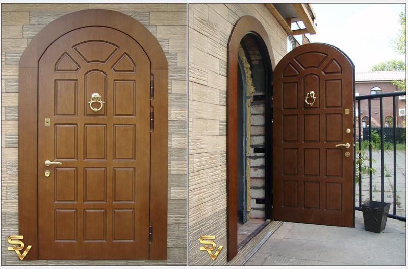 арочные стальные двери на заказ