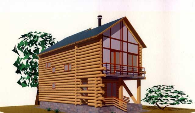 Деревянный дом снаружи