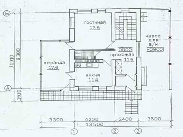 Эскиз плана 2-х этажного дома