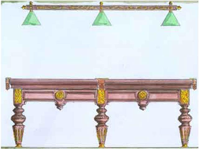 эскиз стола бильярдной