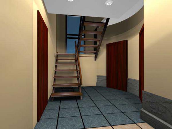 вид деревянной лестницы