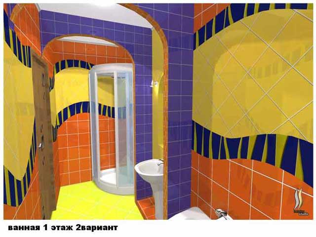 вид ванной коттеджа