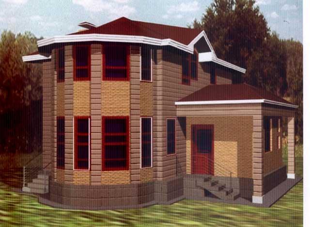 дом спристройкой