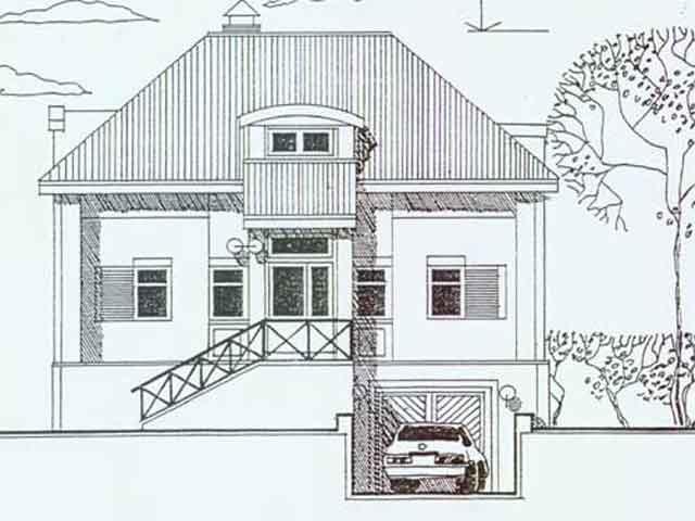 домик и подземный гараж