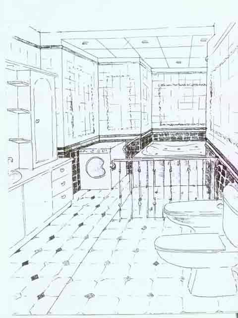 план ванной