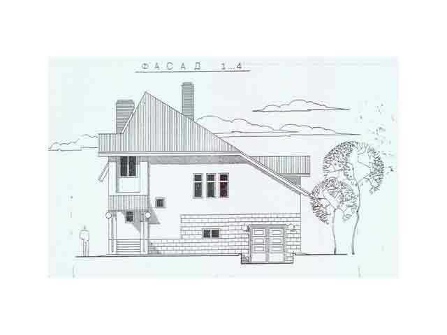 чертеж  загородного дома
