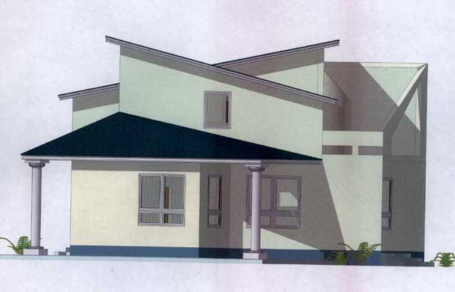 небольшой монолитный дом