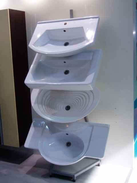 Фото фаянсовых белых раковин различной формы