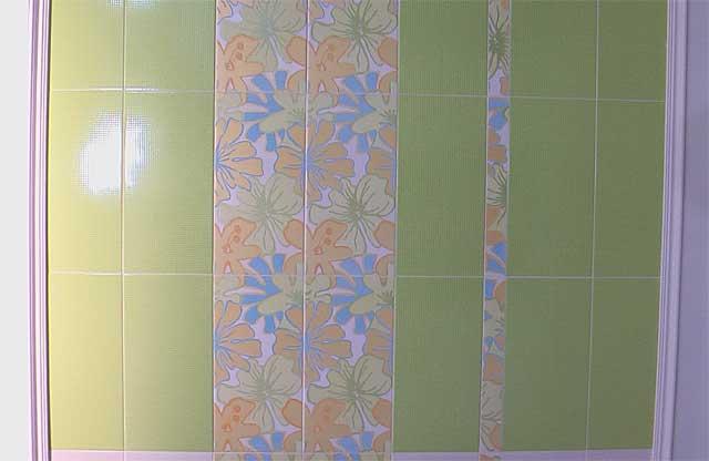 Орнамент на зеленой плитки