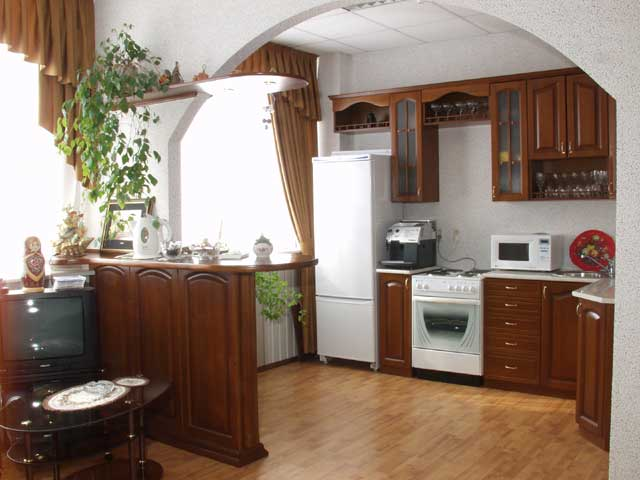 Вид гарнитура кухни