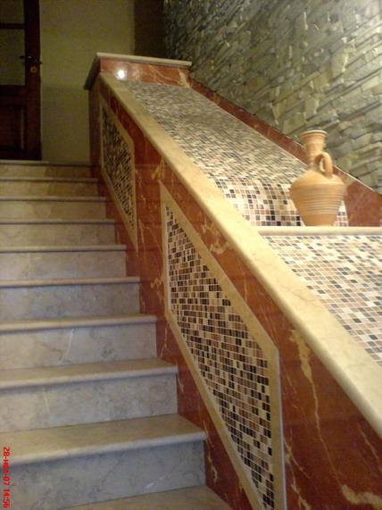 отделка мраморной лестницы