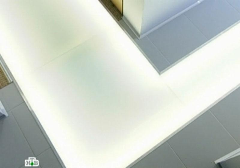 Фото - отделка стеклянного пола