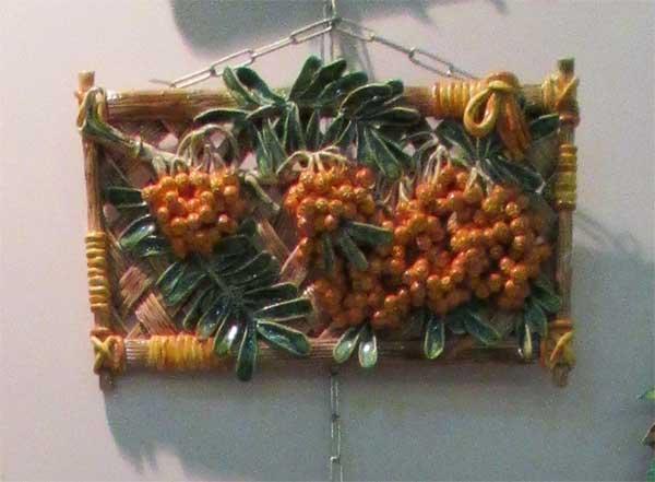 Фото панно облепиховой ветки