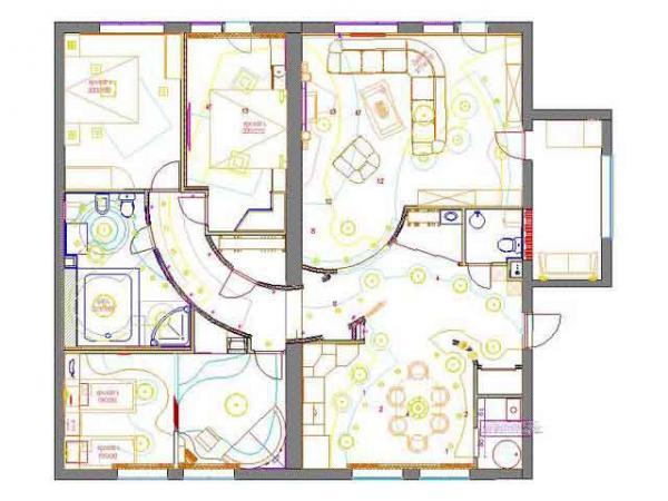 спланировать апартаменты