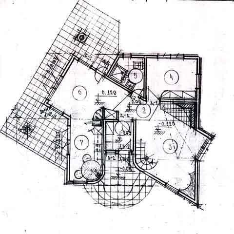 план необычного дома