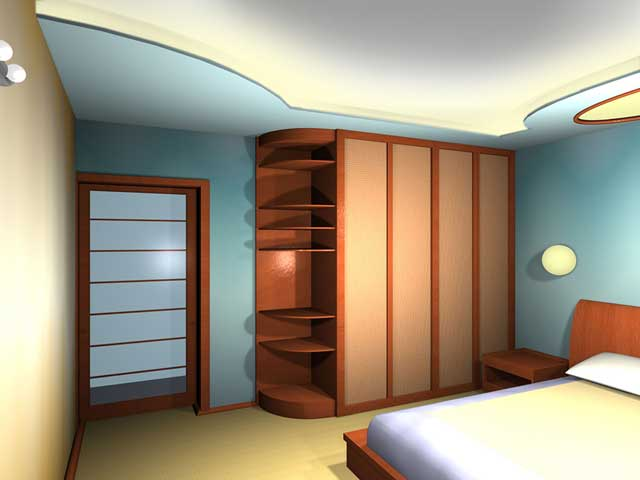 Вид проекта спальни