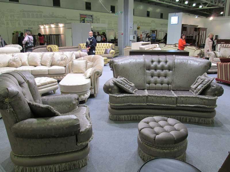 Фото серебристо серого гарнитура мягкой мебели