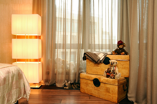 мягкие цвета спальни