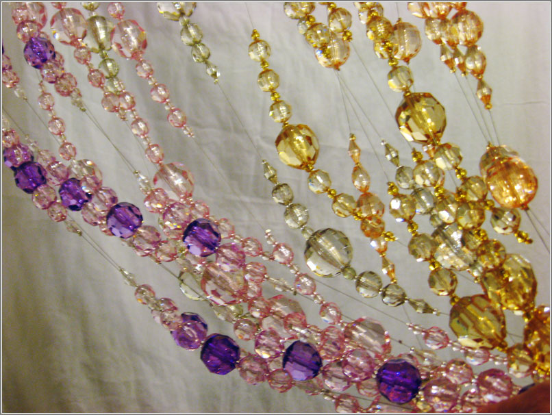 фото стеклянных и бисерных штор