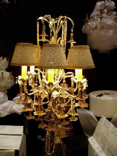 золотой светильник