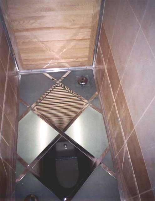 плитки зеркального потолка