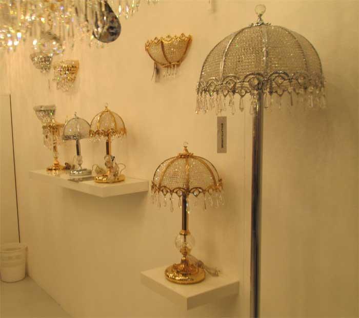 Хрустальные светильники в виде зонтиков