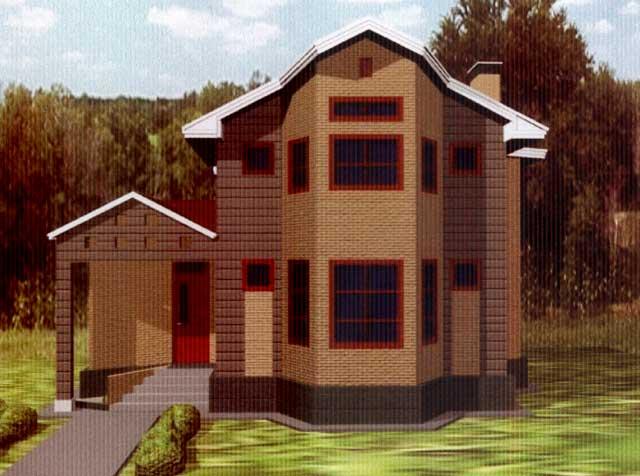 фасад дома с верандой