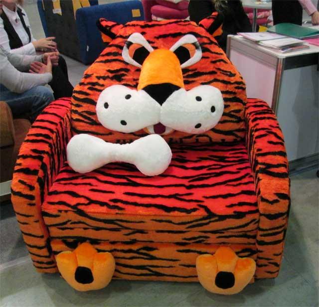 Кресло-кроваь детское - полосатый тигр